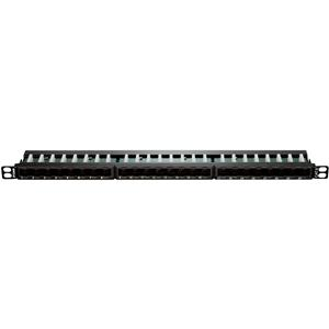 D-Link NPP-C61BLK243 Cat6 UTP Angular Keystone 24 Port Patch Panel